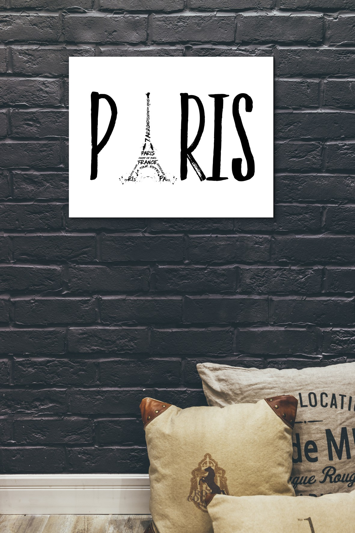 PARIS Typografie - OhMyPrints Onlineshop