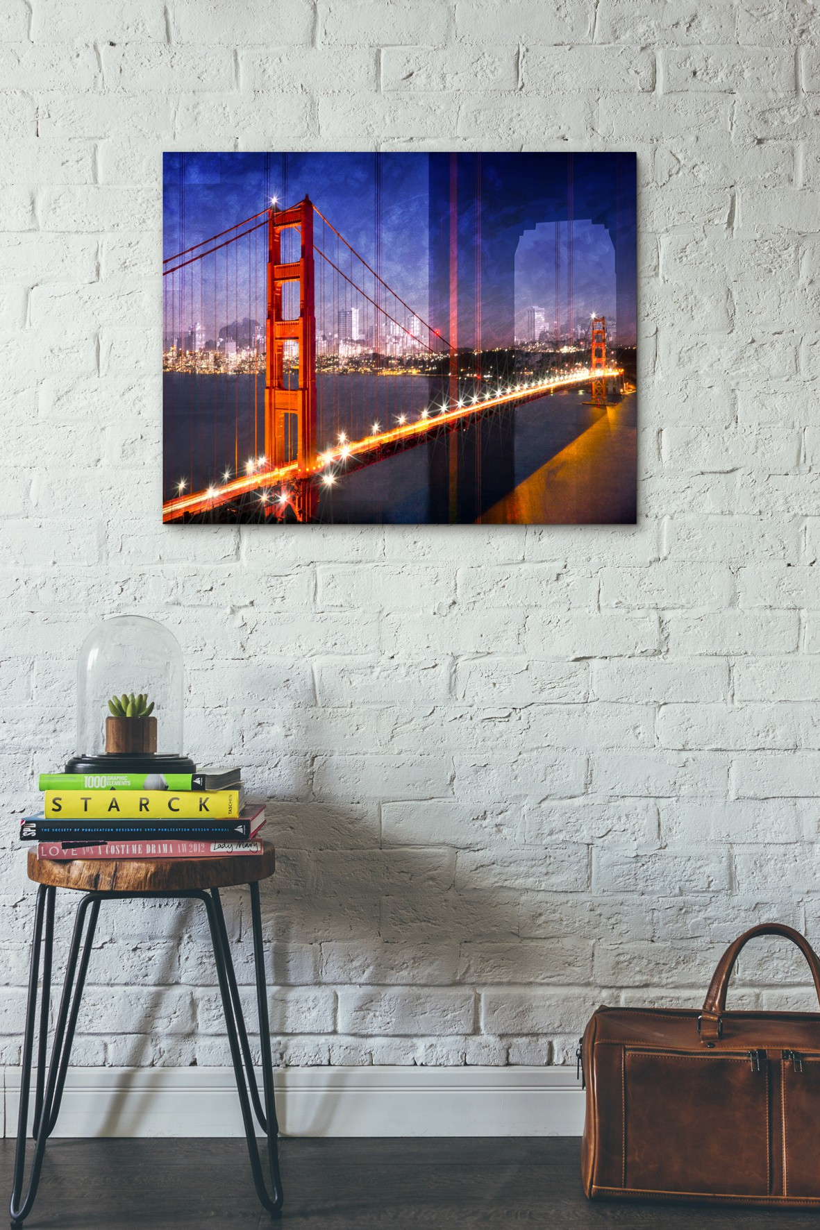 City Art Golden Gate Bridge Composing - Pixels.com Onlineshop