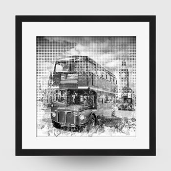 Graphic Art LONDON WESTMINSTER Buses - Link zum artboxONE Onlineshop