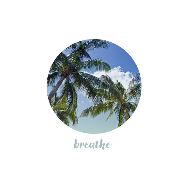 Graphic Art BREATHE | Palm Trees - OhMyPrints Onlineshop