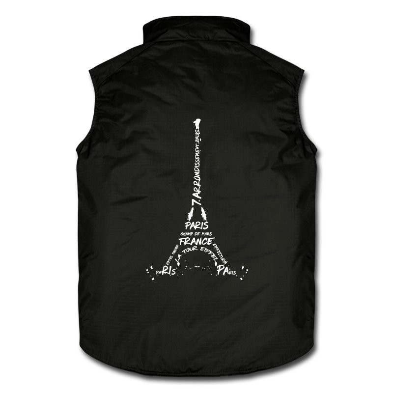 "LINK - SPREADSHIRT Arbeitsweste ""Digital Art Eiffel Tower"""
