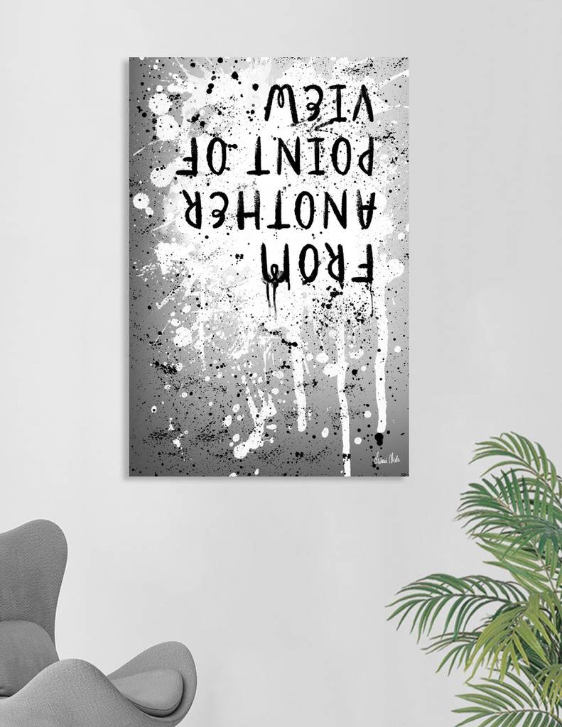 LINK - CURIOOS - Canvas Print - TEXT ART From another point of view | splashes