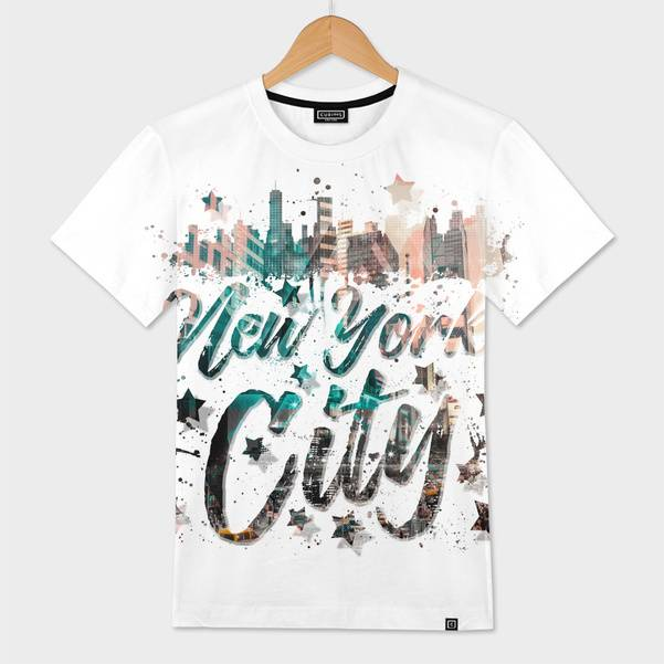 "LINK - CURIOOS Mens All Over T-Shirt ""New York City Typography 