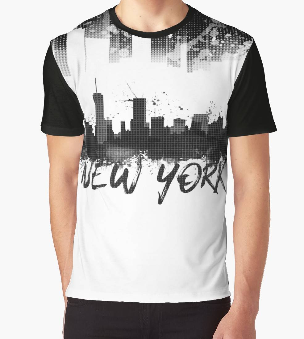 "LINK - Redbubble T-Shirt ""Graphic Art NYC Skyline Splashes 