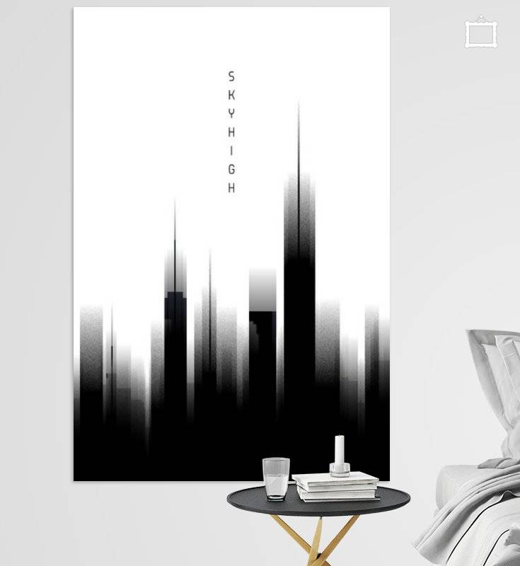 Graphic Art SKYHIGH | weiß - OhMyPrints Onlineshop