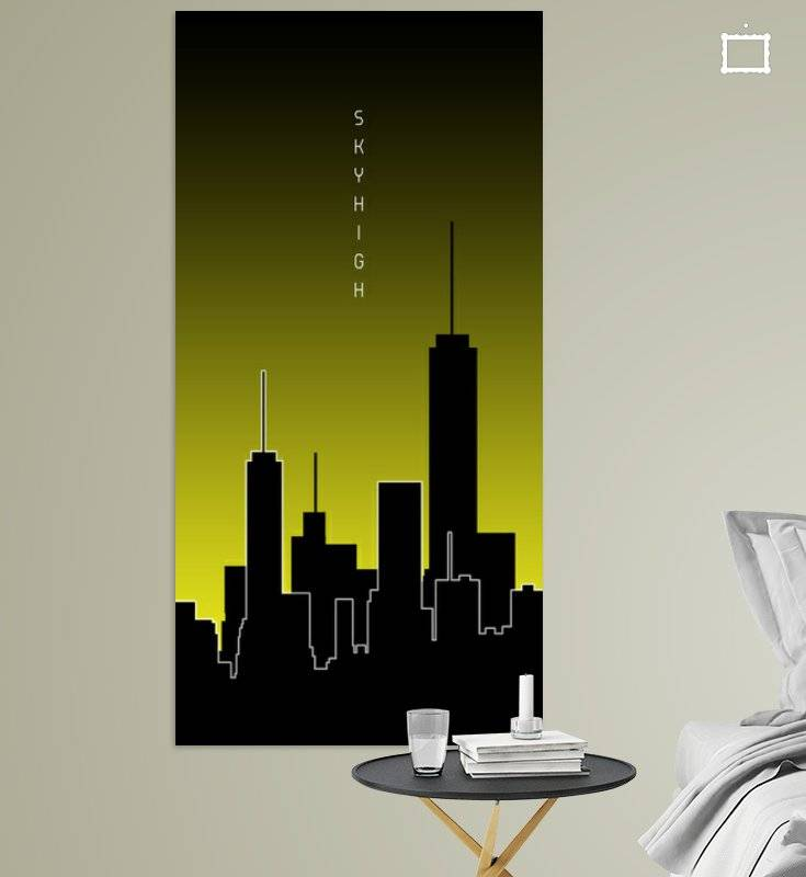 Graphic Art SKYHIGH PANORAMA | gelb - OhMyPrints Onlineshop