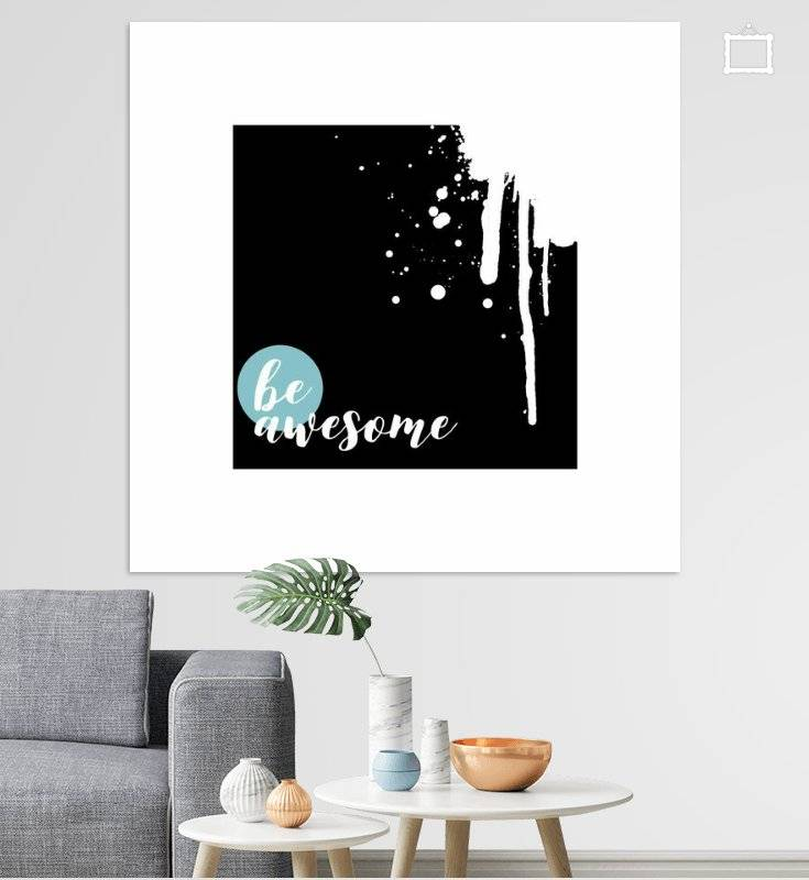 TEXT ART Be awesome - OhMyPrints Onlineshop