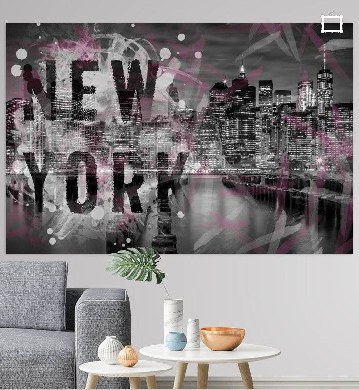 "Link - OhMyPrints - ""MANHATTAN SKYLINE Abendstimmung 