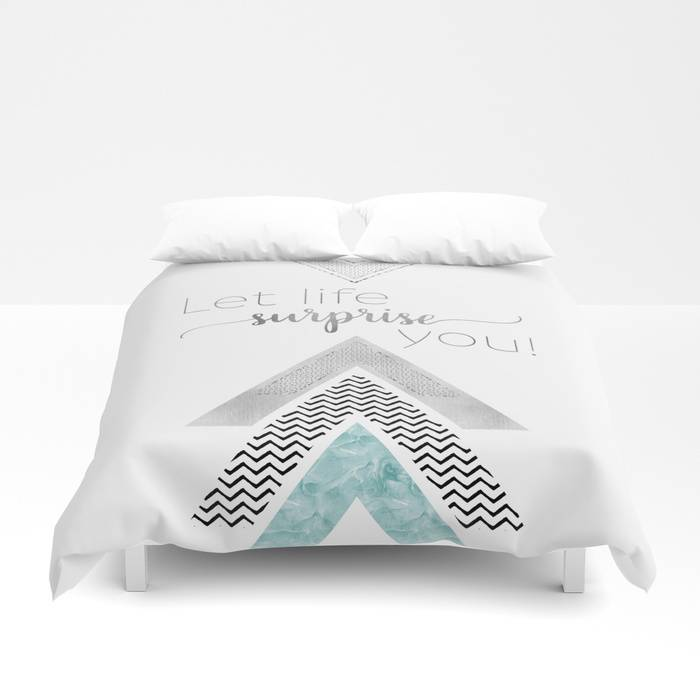 "Link SOCIETY6 Duvet Cover ""GRAPHIC ART Let life surprise you 