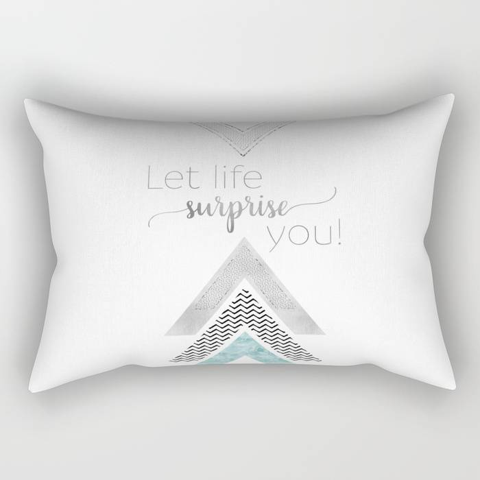 "Link SOCIETY6 Rectangular Pillow ""GRAPHIC ART Let life surprise you 