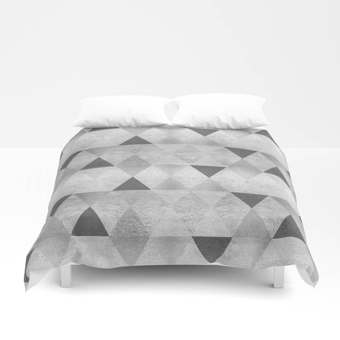 "Link SOCIETY6 Duvet Cover ""GRAPHIC PATTERN Sparkling triangles 