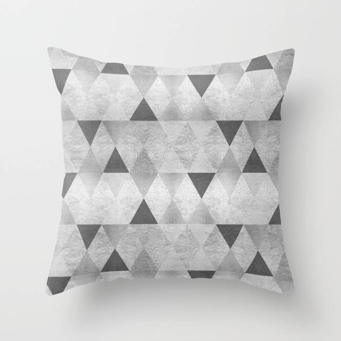 "Link SOCIETY6 Trow Pillow ""GRAPHIC PATTERN Sparkling triangles 