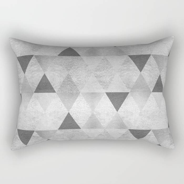 "Link SOCIETY6 Rectangular Pillow ""GRAPHIC PATTERN Sparkling triangles 