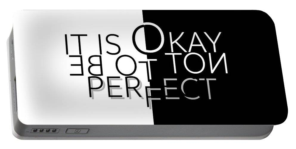 "LINK - Pixels.com - Portable Battery Charger - ""TEXT ART It is OK not to be perfect"""